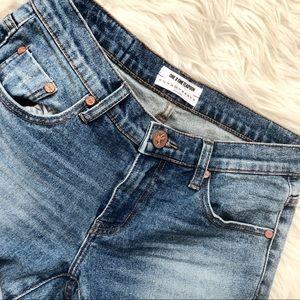 One Teaspoon Raw Edge Zip Ankle Skinny Jeans